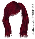 trendy  woman  hairs red color .... | Shutterstock .eps vector #783433156