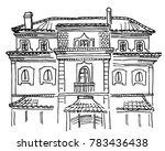 sketch of portuguese house... | Shutterstock .eps vector #783436438
