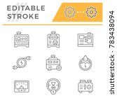 set line icons of electrical... | Shutterstock .eps vector #783438094