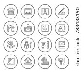 set round line icons of... | Shutterstock .eps vector #783438190