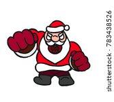 evil santa beats his fist... | Shutterstock .eps vector #783438526
