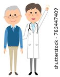 the male of the white coat... | Shutterstock .eps vector #783447409