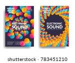 electronic music poster. modern ... | Shutterstock .eps vector #783451210