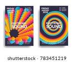 electronic music poster. modern ... | Shutterstock .eps vector #783451219