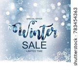 winter sale background special... | Shutterstock .eps vector #783454363