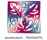 beautiful ornaments for... | Shutterstock . vector #783456370