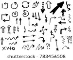 doodle vector arrows. isolated. ... | Shutterstock .eps vector #783456508