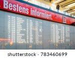 airport arrival and departures...   Shutterstock . vector #783460699