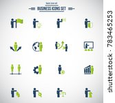 simple set of business people... | Shutterstock .eps vector #783465253