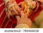 indian wedding rings exchange  | Shutterstock . vector #783466018