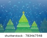 vector merry christmas snowing... | Shutterstock .eps vector #783467548