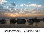 sunset on the sea | Shutterstock . vector #783468730
