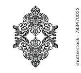 vintage baroque frame scroll... | Shutterstock .eps vector #783470023