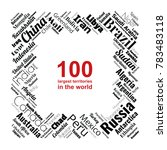 100 biggest countries word... | Shutterstock .eps vector #783483118