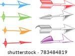 set of abstract arrow vector | Shutterstock .eps vector #783484819