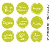 fresh raw food  eco friendly... | Shutterstock .eps vector #783486160