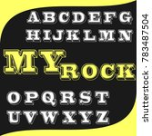 vector set of handcrafted abc... | Shutterstock .eps vector #783487504