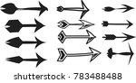 set of abstract arrow vector | Shutterstock .eps vector #783488488