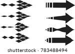 set of abstract arrow vector | Shutterstock .eps vector #783488494