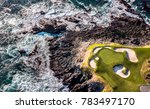 drone view of a golf course... | Shutterstock . vector #783497170