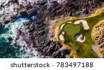 drone view of a golf course... | Shutterstock . vector #783497188