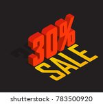30  percent off  sale  red... | Shutterstock .eps vector #783500920