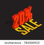 20  percent off  sale  red... | Shutterstock .eps vector #783500923