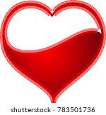 red heart valentine love logo... | Shutterstock .eps vector #783501736