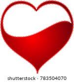 red heart valentine love logo... | Shutterstock .eps vector #783504070