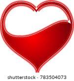 red heart valentine love logo... | Shutterstock .eps vector #783504073