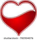 red heart valentine love logo... | Shutterstock .eps vector #783504076