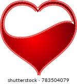 red heart valentine love logo... | Shutterstock .eps vector #783504079