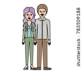 couple in colored crayon... | Shutterstock .eps vector #783509188