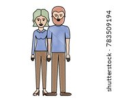 couple in colored crayon... | Shutterstock .eps vector #783509194