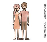 couple in colored crayon... | Shutterstock .eps vector #783509200