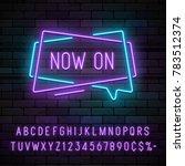 neon light linear promotion... | Shutterstock .eps vector #783512374