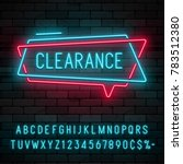 neon light linear promotion... | Shutterstock .eps vector #783512380