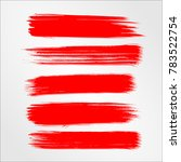 red brush stroke and texture....   Shutterstock .eps vector #783522754