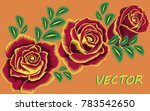 vector floral bright decor.... | Shutterstock .eps vector #783542650