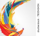 abstract acrylic hand painted... | Shutterstock .eps vector #783543454