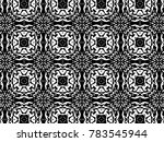ornament with elements of black ... | Shutterstock . vector #783545944