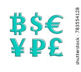 currency  exchange icons set.... | Shutterstock .eps vector #783554128