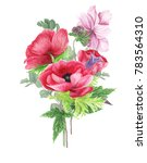 Bouquet With Pink Anemones  ...