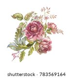 flower watercolor garland | Shutterstock . vector #783569164