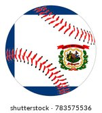 a baseball with red stitching... | Shutterstock .eps vector #783575536