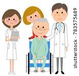 doctor  nurse and patient | Shutterstock .eps vector #783575689