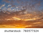 dramatic sunset with orange... | Shutterstock . vector #783577324