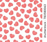 seamless pattern from hearts on ... | Shutterstock .eps vector #783580063