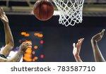 basketball ball  in the...   Shutterstock . vector #783587710
