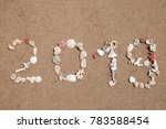 the word 2019 lmade from... | Shutterstock . vector #783588454